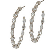 Diamonique 2.10 cttw 1-1/4 Hoop Earrings Sterling - J347113