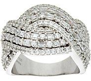TOVA Diamonique Love Wave Band Ring, Sterling - J347313