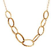 14K Gold 18 Hammered Oval Link Necklace, 5.7g - J347513