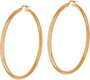 14K Gold 2 Polished Hoop Earrings - J350513