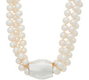 Simon Sebbag Pearl and Sterling Silver Electroform Necklace - J351013