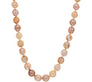Honora Cultured Pearl Carved Ming 20 Necklace, Sterling - J351913