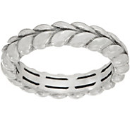 Tiffany Kay Studio Sterling Silver Herringbone Stack Ring - J352313