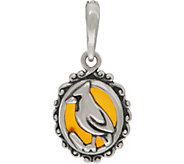 Carolyn Pollack Sterling Silver & Orange Agate Bird Charm - J352713
