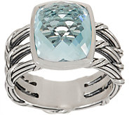 Peter Thomas Roth Sterling Silver & Blue Topaz Cushion Cut Ring - J353313