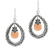 Or Paz Sterling Pear Shaped Gemstone Dangle Earrings - J354313