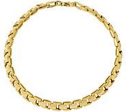 14K Gold Rectangle Link 7-1/2 Bracelet, 5.9g - J374813