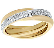 Crossover Diamond Ring, 14K, 1/2 cttw, by Affinity - J375213