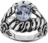 Carolyn Pollack Sterling Silver Brilliant WhiteTopaz Ring - J375913