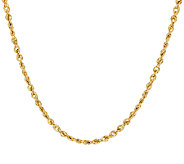 14K Gold Diamond Cut Faceted Rope Chain Necklace - J53113