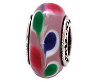 Prerogatives Sterling Pink, Blue, and Green Glass Bead - J109314