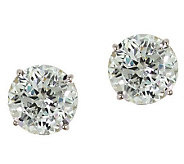 Diamonique 2.50 ct tw 100-Facet Stud Earrings,1 4K Gold - J110214