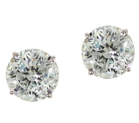 diamonique 2 50 ct tw 100 facet stud earrings 1 4k gold