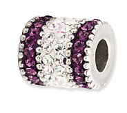 Prerogatives Sterling Purple Crystal Barrel Bead - J113214