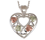 Black Hills Hearts on Hearts Pendant, Sterling/ 12K Gold - J113714