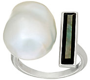 Honora Cultured Pearl 13.0mm Baroque & Mother-of-Pearl Sterling Ring - J147614