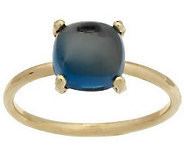 Cushion Shaped Gemstone Cabochon Stack Ring 14K Gold - J265514
