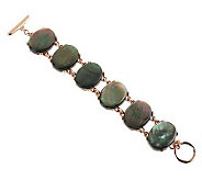 Honora 7-1/4 Mother-of-Pearl Oval Cabochon Bronze Bracelet - J270914