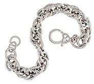 Judith Ripka Sterling 7-1/4 Oval Rolo Link Bracelet - J293714