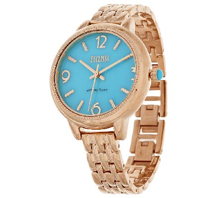 Ecclissi Sleeping Beauty Turquoise Sterling Silver Watch