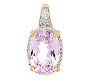 13.20 ct Oval Kunzite & 1/4 cttw Diamond Enhancer, 14K - J294914