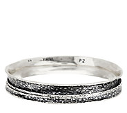 Sterling Silver Floral Design Spinner Bangle by Or Paz, 27.0g - J296314
