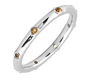 Simply Stacks Sterling Citrine Multi-stone Stackable Ring - J298614