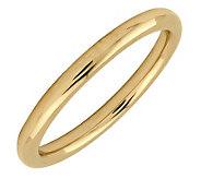 Simply Stacks Sterling 18K Yellow Gold-Pltd 2.25mm Polish Ring - J298914