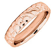 Simply Stacks Sterling 18K Rose Gold-Plated Cobble 4.25mm Ring - J299014