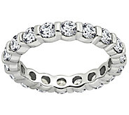 Diamonique 1.90 cttw Eternity Band Ring, Platinum Clad - J309714