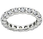 Diamonique 1.90 cttw Eternity Band Ring, Platinum Clad - J309714