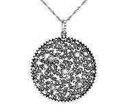 Suspicion Sterling Marcasite Round Pendant - J309814