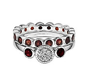 Simply Stacks Sterling Holiday Ring Set - J310714