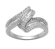 Diamond Wave Ring, Sterling, 1/2 cttw, by Affinity - J311014