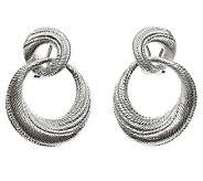 Judith Ripka Sterling Silver Textured Swirl Earrings - J312314