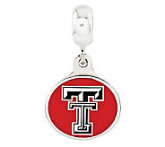 Sterling Silver Texas Tech University Dangle Bead - J315014