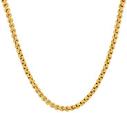 Vicenza Silver Sterling 18 Polished Box Chain Necklace, 18.0g - J317914