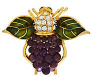 Joan Rivers Grape Cluster Bee Pin - J318214