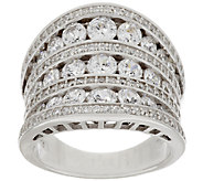 Diamonique 4.35 cttw Concave Band Ring, Sterling - J319014