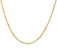 Vicenza Gold 18 Polished Double Round Link Chain, 14K 1.2g - J321214