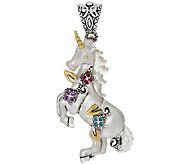 Barbara Bixby Sterling & 18K Multi-Gemstone Unicorn and Flower Enhancer - J322414
