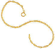 Vicenza Gold 7-1/4 Twisted Singapore Bracelet, 14K - J323114