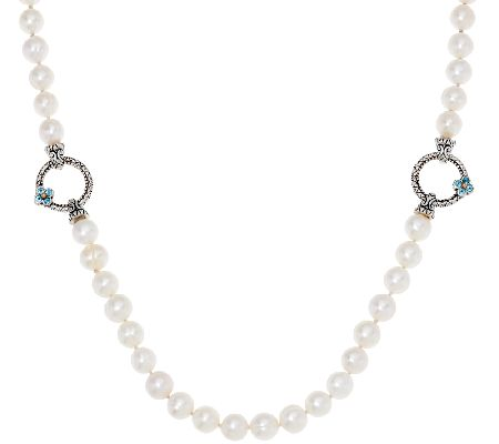 "Barbara Bixby Sterling 24"" Cultured Pearl Adj. Necklace"