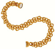 As Is Oro Nuovo 7-1/4 Woven Byzantine Bracelet, 14K - J324014