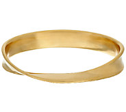 Oro Nuovo Average Wave Twist Polished Oval Bangle, 14K - J325814