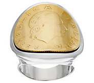 White Bronze 200 Lire Coin Ring by Bronzo Italia - J328814