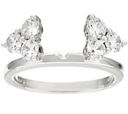 Diamonique Cluster Insert Ring, Platinum Clad - J330814