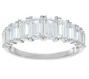 Diamonique Graduated Stone Band Ring, Sterling - J331214