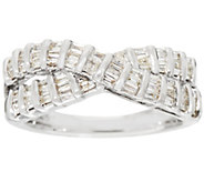 Baguette Diamond Ring, Sterling, 4/10 cttw, by Affinity - J335114
