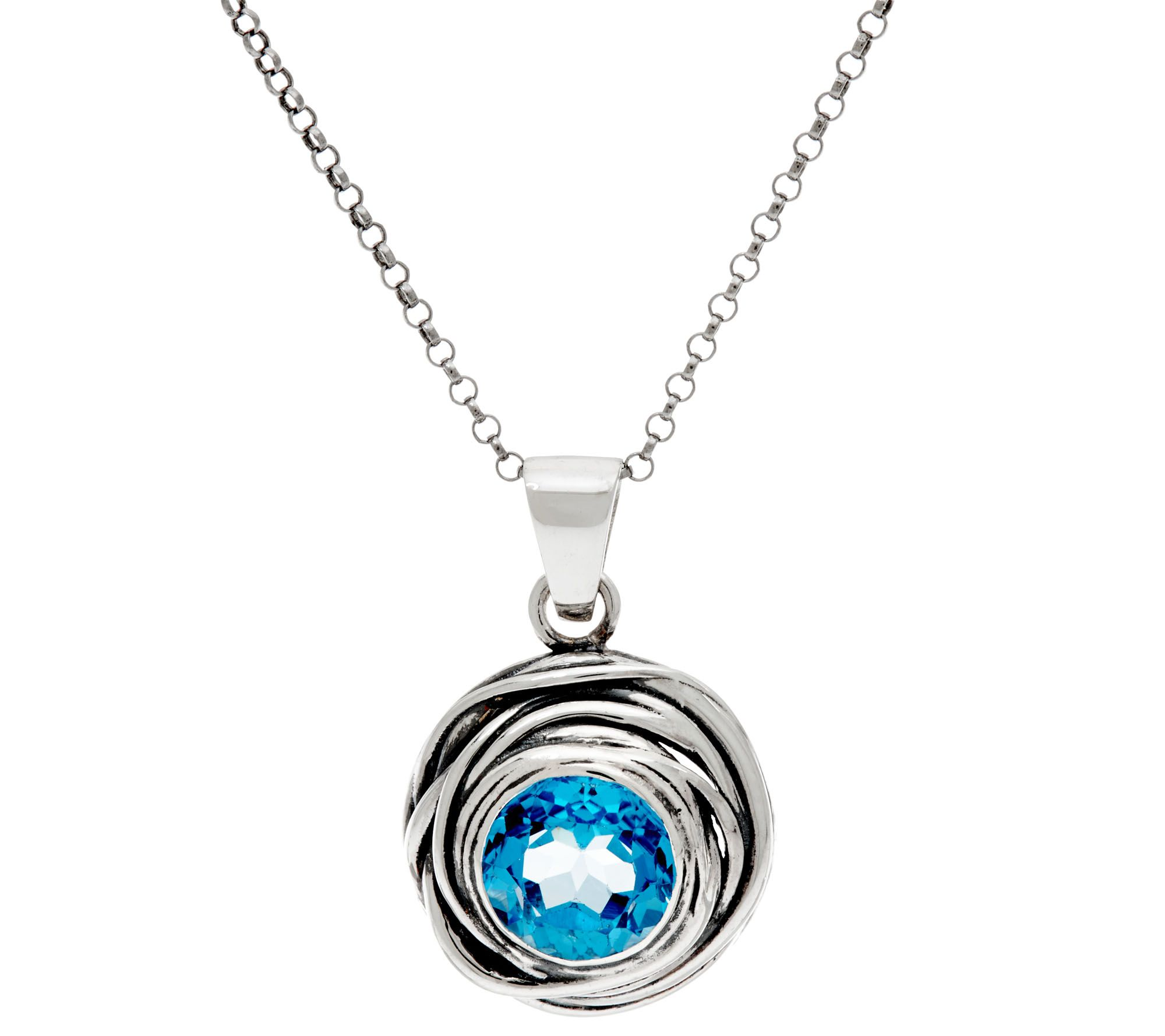 sterling silver gemstone solitaire pendant w chain by or